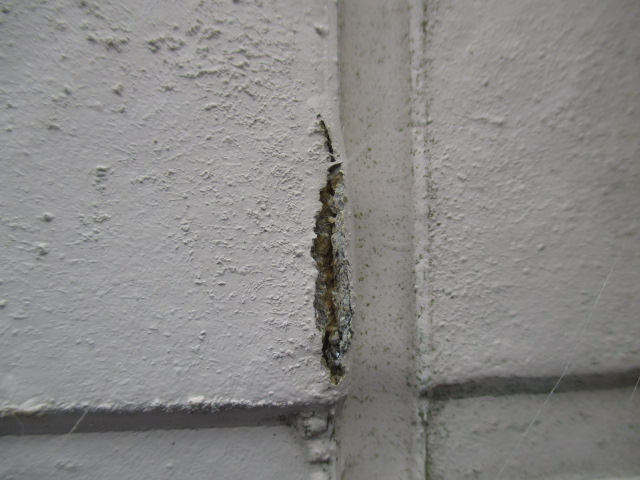 西宮市外壁サイディング目地周辺の劣化