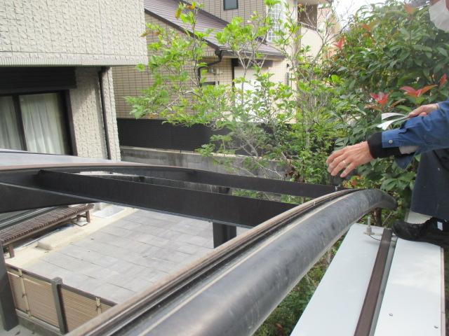 西宮市カーポート屋根採寸