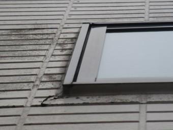 西宮市外壁窯業系サイディング材表面変色