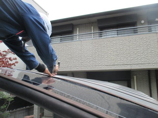 西宮市カーポート屋根取付