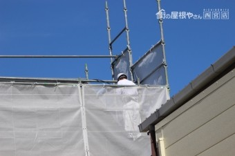 尼崎市屋根塗装工事1