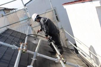 尼崎市屋根塗装工事3