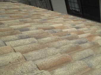 西宮市屋根材で使用しているモニエル瓦全体