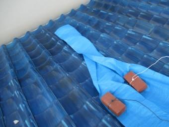 尼崎市瓦屋根雨漏れ対策ブルーシート