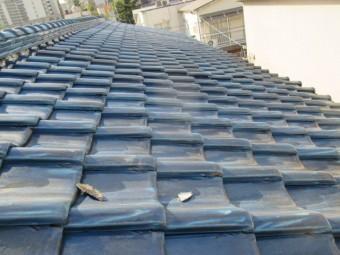 尼崎市木造住宅瓦屋根劣化浮き