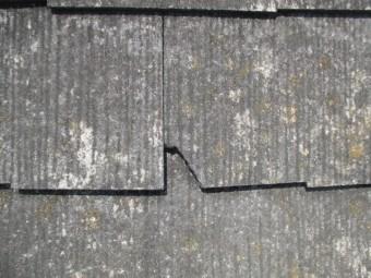 西宮市屋根カラーベスト材割れてない