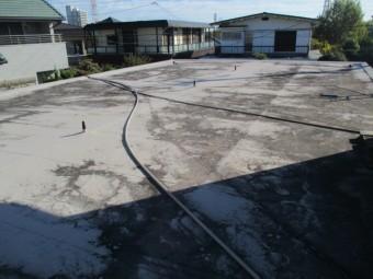 西宮市塩ビシート防水陸屋根劣化
