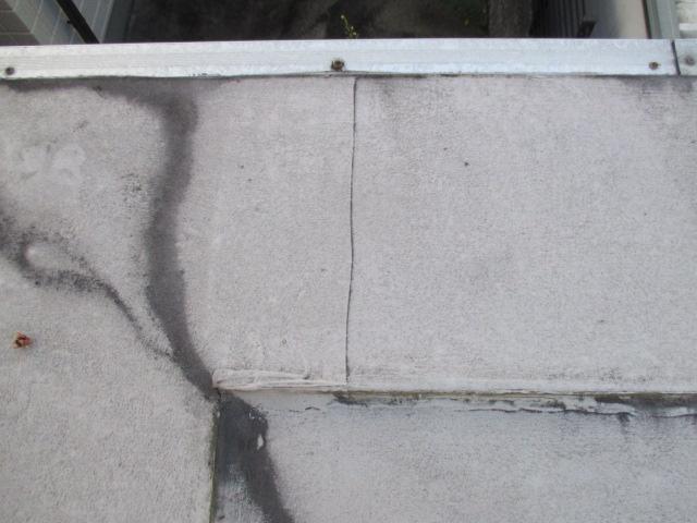 西宮市陸屋根塩ビシート亀裂