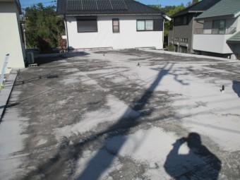 西宮市木造住宅陸屋根仕様の表面劣化