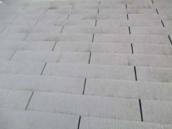 西宮市木造住宅カラーベスト屋根表面の劣化
