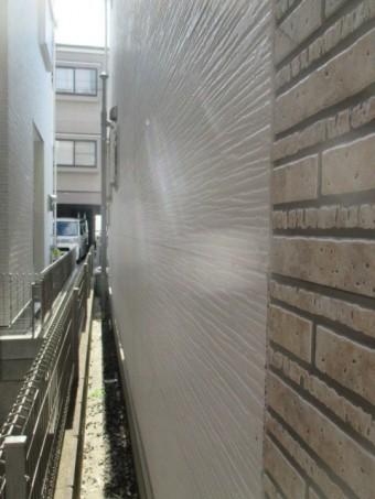 西宮市外壁サイディング壁表面