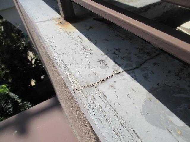 西宮市木造住宅ベランダ笠木劣化