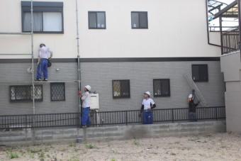 外壁塗装最終日7