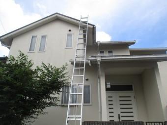 三田市築27年木造二階建て住宅カラーベスト屋根の点検