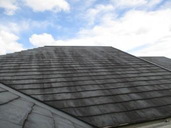三田市築27年経過しているカラーベスト屋根の状態