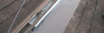 芦屋市宮塚町築25年以上経過している木造二階建てカラーベスト屋根の状態