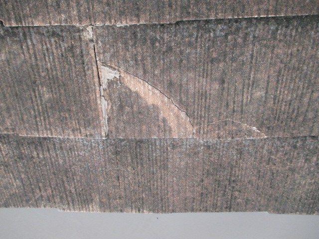 芦屋市宮塚町25年ほどほったらかしにしていたカラーベスト屋根の表面