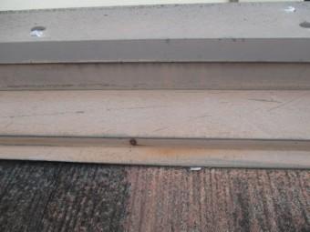 芦屋市宮塚町紫外線や雨の影響でサビている屋根板金