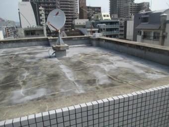 西宮市コンクリート造の陸屋根