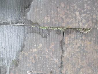 西宮市三階建てのお家カラーベスト表面に雨染み