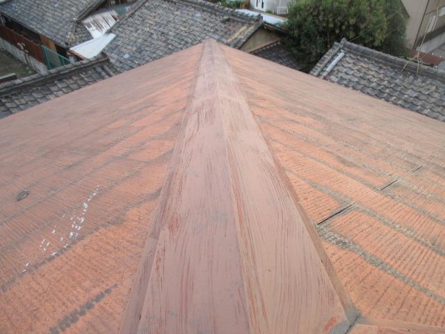 西宮市カラーベスト屋根板金部分劣化