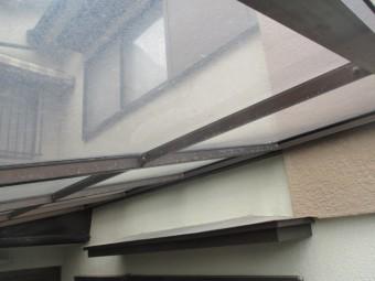 西宮市築30年戸建て住宅車庫用カーポート屋根