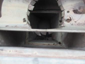 三田市木造住宅に取付られている銅の樋