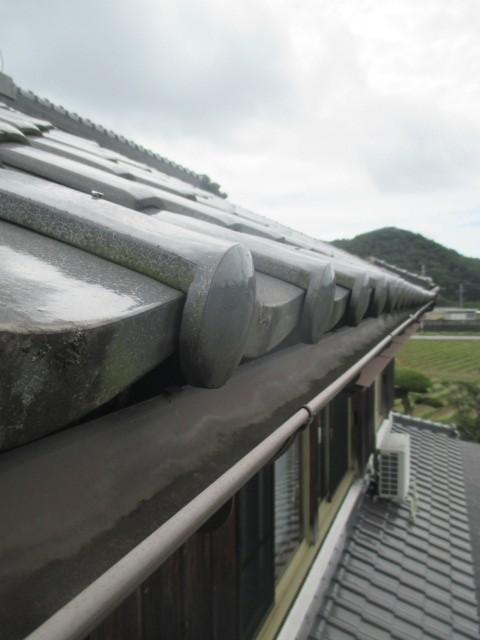 三田市木造二階建て住宅大屋根軒樋