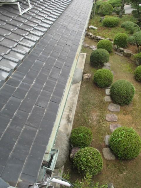 三田市築50年木造二階建て住宅に取付られている銅の軒樋