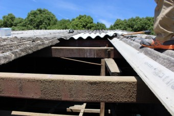伊丹市倉庫屋根修理3