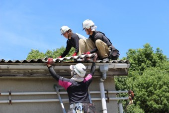 伊丹市倉庫屋根修理5