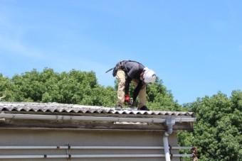 伊丹市倉庫屋根修理6