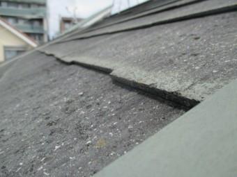 宝塚市木造二階建て住宅カラーベスト屋根勾配がきつい