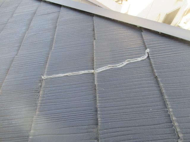 西宮市カラーベスト亀裂劣化で補修