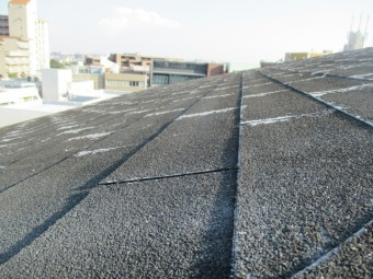 西宮市20年は経過しているアスファルトシングル屋根の劣化