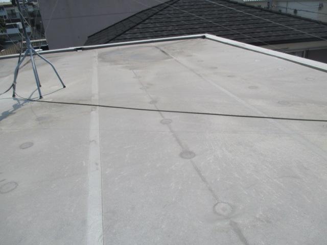 西宮市木造二階建て住宅陸屋根の点検