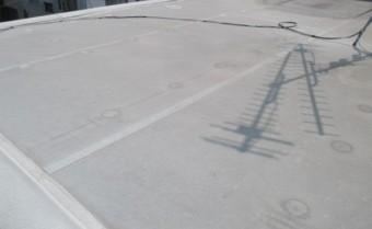 西宮市10年ほど前に施工した塩ビシート防水