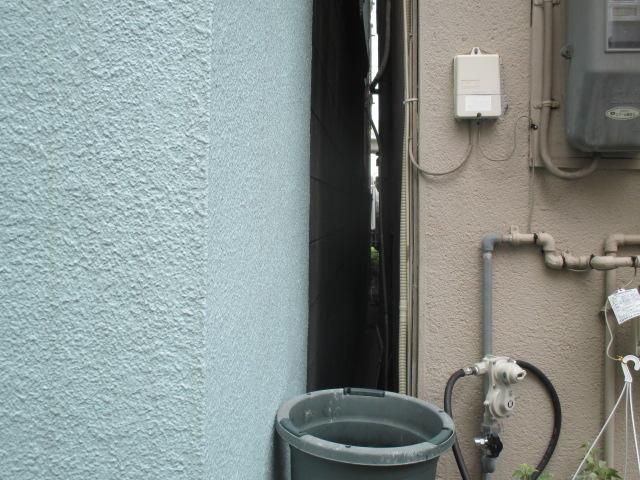 西宮市外壁モルタル壁足場困難な現場