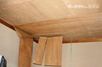 屋根葺替え現場調査1