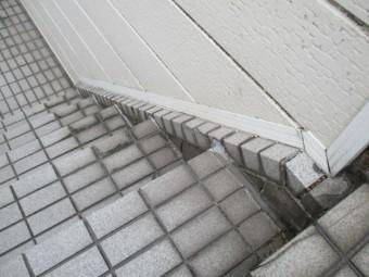 尼崎市鉄筋コンクリート外階段タイル劣化