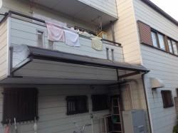 アルミひさし屋根修理前1