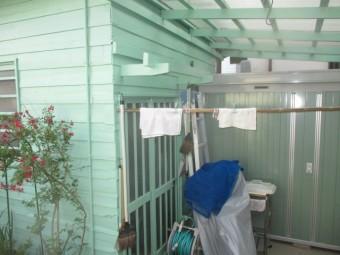 小屋の外壁塗装