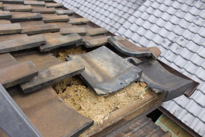 瓦屋根修理現場写真5