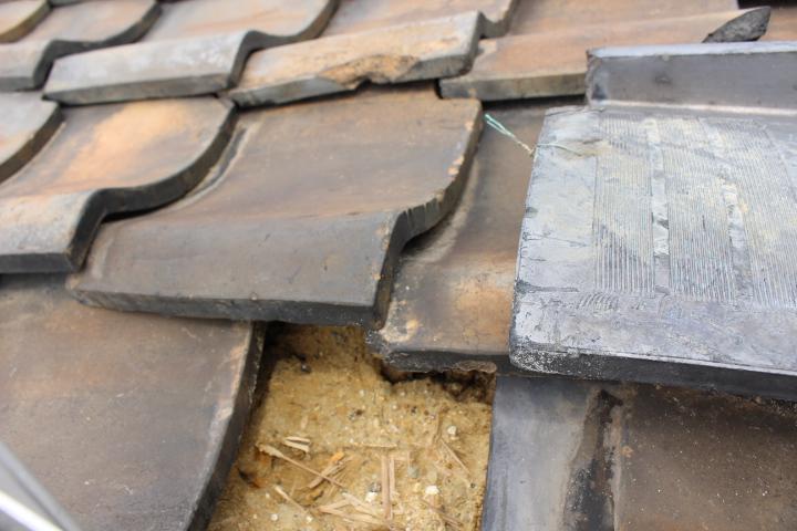 瓦屋根修理現場写真4