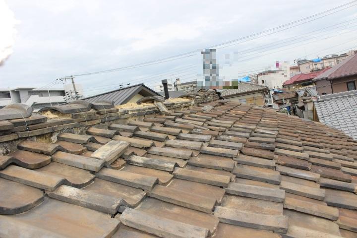 瓦屋根修理現場写真2