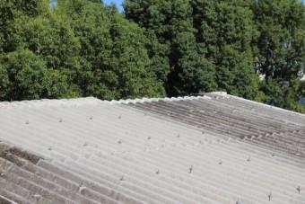 スレート屋根棟2