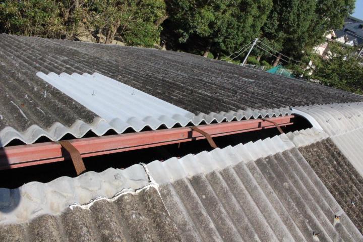 スレート屋根棟3