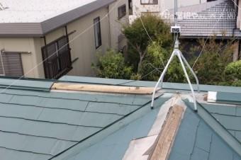 台風被害棟包み飛散3