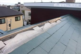 台風被害棟包み飛散5