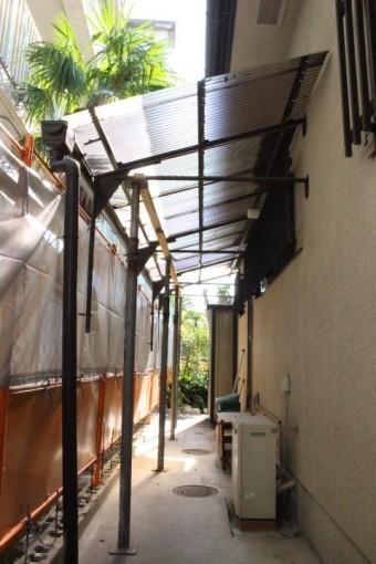 テラス屋根交換3